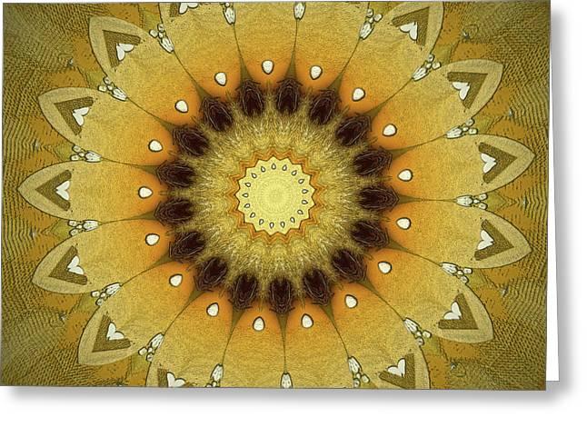 Kaleidoscope Greeting Cards - Sun Kaleidoscope Greeting Card by Wim Lanclus