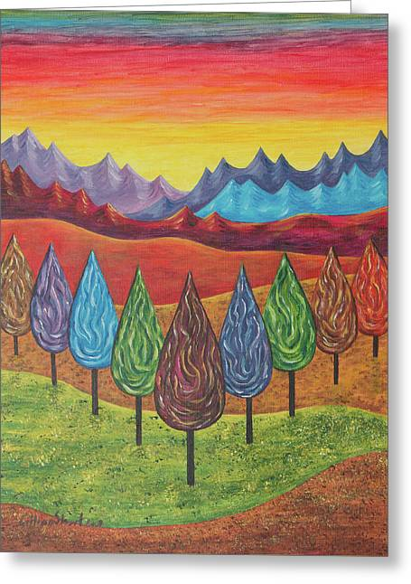 Sunset Prints Greeting Cards - Sun Light Greeting Card by Gillian Short