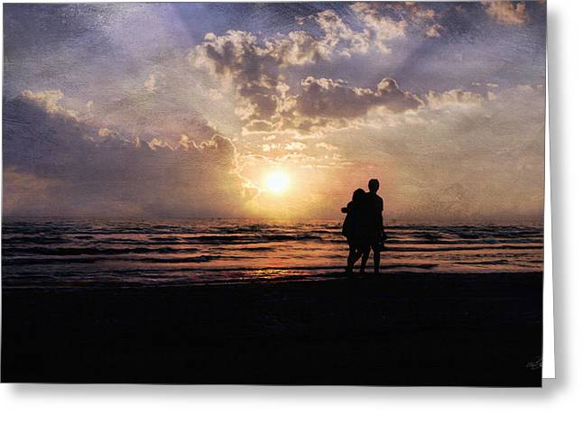 York Beach Greeting Cards - Sun Lovers Greeting Card by Peter Chilelli
