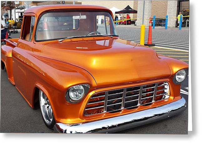 56 Chevy Pickup Greeting Cards - Sun on Metal Greeting Card by Patti Walden