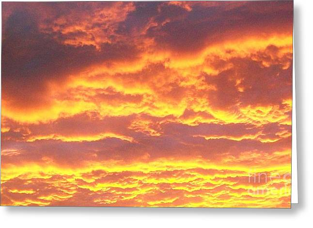 Sunset After A Storm Greeting Cards - Sun On The Clouds Greeting Card by Marsha Heiken