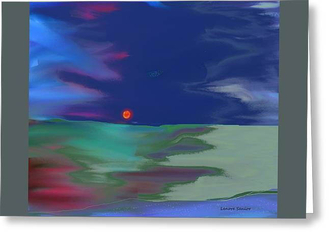 Abstractions Greeting Cards - Sun on the Horizon Greeting Card by Lenore Senior
