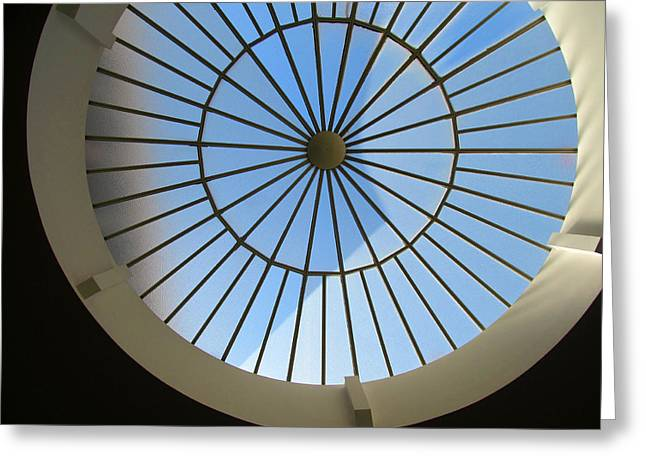 Union Square Greeting Cards - sun roof S F N M architecture Greeting Card by Tina M Wenger