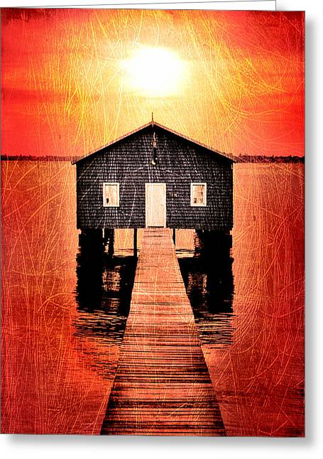 Pier Digital Greeting Cards - Sun Scars Greeting Card by Az Jackson