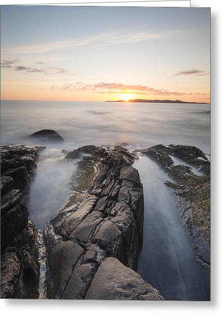 Visitscotland Greeting Cards - Sun Setting on Harris Greeting Card by Rich Dyson