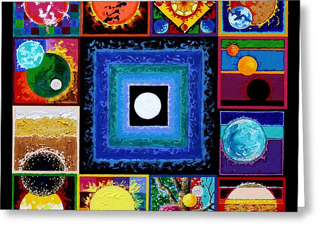 Sun Flare Greeting Cards - Sun Spots Greeting Card by John Lautermilch