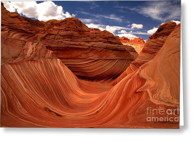 The Plateaus Greeting Cards - Sun Stripes On The Wave Greeting Card by Adam Jewell
