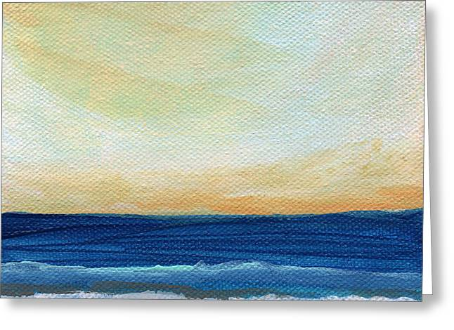 Sun Swept Coast- Abstract Seascape Greeting Card by Linda Woods