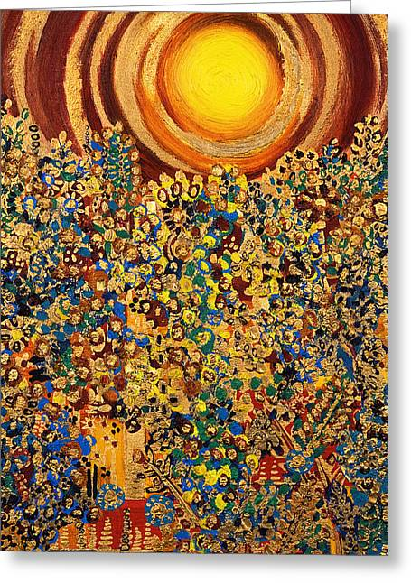 Sun Rays Paintings Greeting Cards - Sun Greeting Card by Tara Thelen - Printscapes