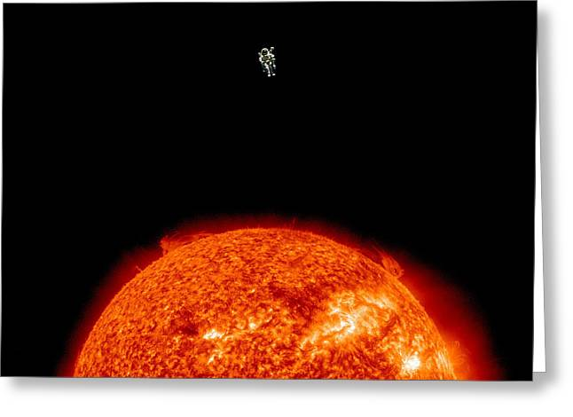 Sun Digital Art Greeting Cards - Sun Vacation Greeting Card by Rr Co