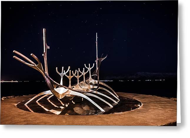 Art Glass Photographs Photographs Photographs Greeting Cards - Sun voyager Greeting Card by Petur Mar Gunnarsson