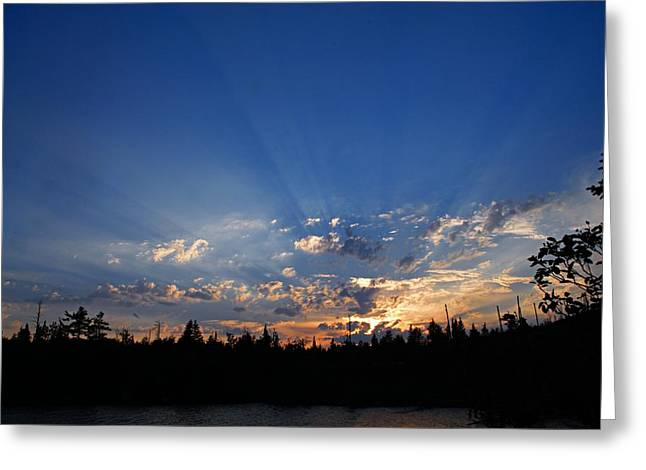 Sunbeams At Sunset 2 Greeting Card by Larry Ricker