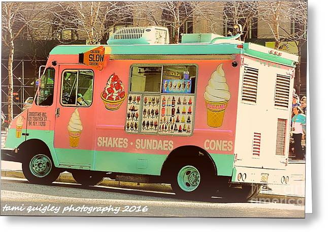 Sundae In New York Greeting Card by Tami Quigley