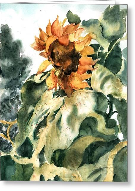 Garden Scene Mixed Media Greeting Cards - Sundancer Greeting Card by Barbara Jung