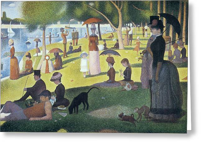 Sunday Afternoon On The Island Of La Grande Jatte Greeting Card by Georges Seurat