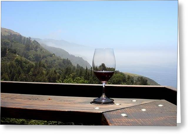 Big Sur Greeting Cards - Sunday Brunch at Nepenthe Greeting Card by Patricia  Wensel