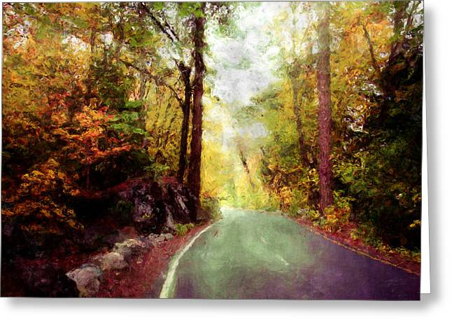 Scenic Drive Digital Greeting Cards - Sunday Drive Greeting Card by Kim Groseclose