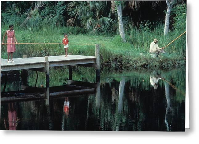 Jacksonville Greeting Cards - Sunday Fishing Greeting Card by Chuck Harris