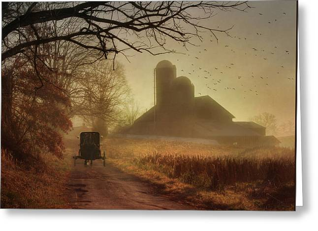 Sunday Morning Greeting Card by Lori Deiter