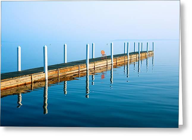 Sunday Morning Pier Greeting Card by Todd Klassy