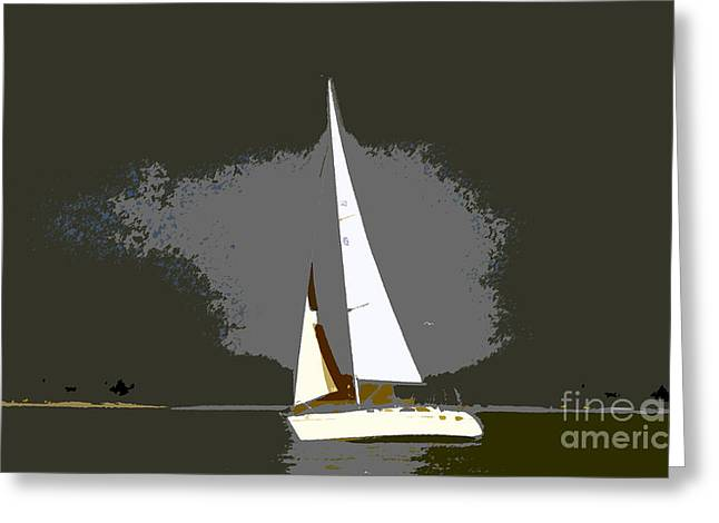 Sailing Ship Greeting Cards - Sunday sailing Greeting Card by David Lee Thompson