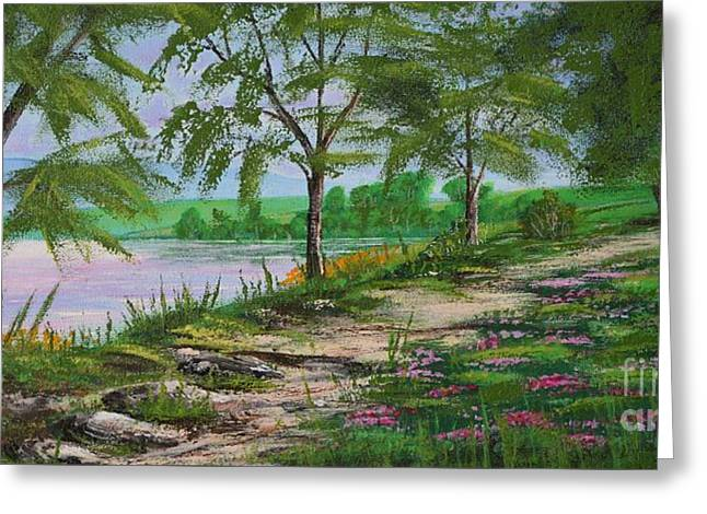 Unique Art Greeting Cards - Sunday Stroll Greeting Card by Mario Lorenz