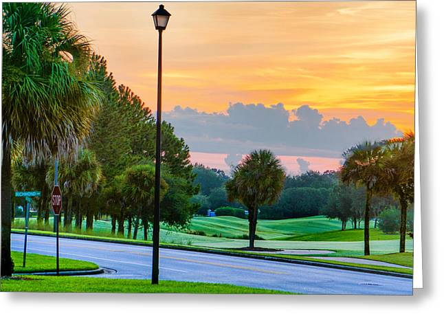 Photograph Tapestries - Textiles Greeting Cards - Sundday Morning in Florida Greeting Card by Dennis Dugan