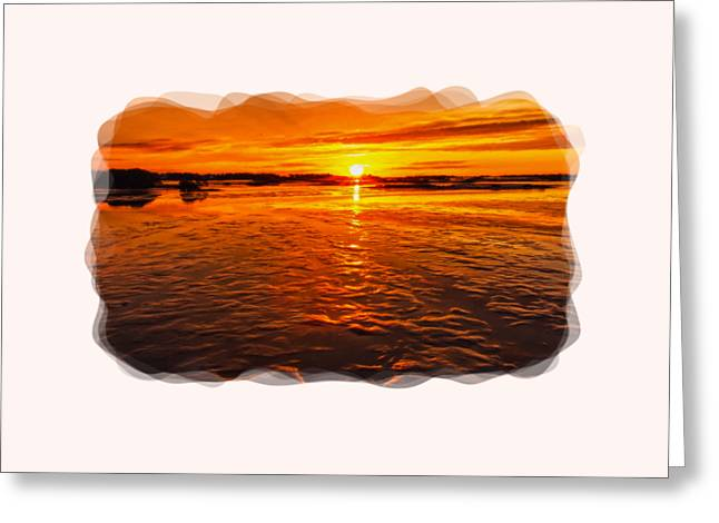 Short Sleeves Greeting Cards - Sundown At Low Tide 2 Greeting Card by John Bailey