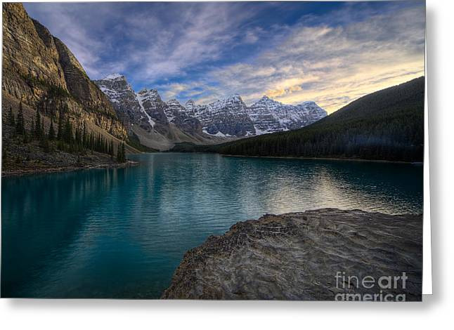 Alberta Landscape Greeting Cards - Sundown On the Rocks Greeting Card by Royce Howland