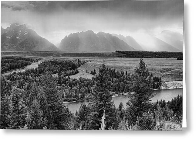 Snow Capped Greeting Cards - Sundown on the Snake River Greeting Card by Hugh Smith