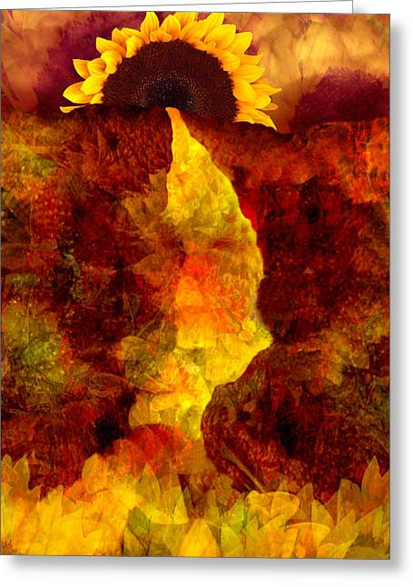 Abstract Nature Digital Greeting Cards - Sundown Greeting Card by Tom Romeo
