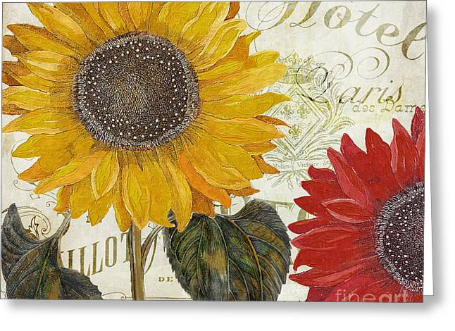 Yellow And Red Greeting Cards - Sundresses Greeting Card by Mindy Sommers