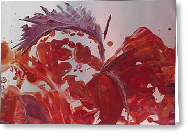 Stormy Weather Mixed Media Greeting Cards - Sunfish Fire Dance Greeting Card by Danita Cole