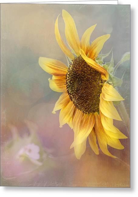 Floral Digital Art Digital Art Greeting Cards - Sunflower Art - Be The Sunflower Greeting Card by Jordan Blackstone