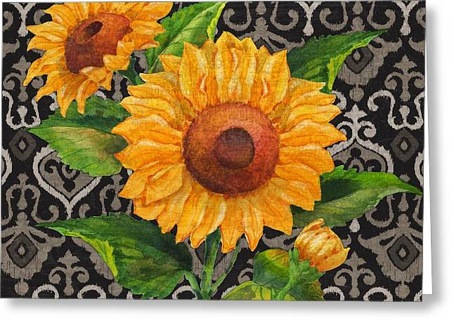 Chic Greeting Cards - Sunflower Chic II Greeting Card by Paul Brent