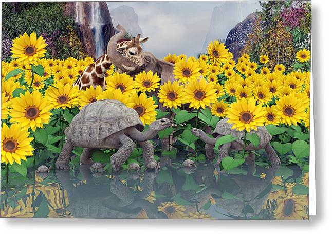 Sunflower Daydream  Greeting Card by Betsy C Knapp