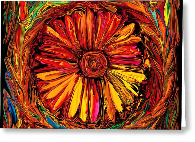 Recently Sold -  - Festivities Greeting Cards - Sunflower Emblem Greeting Card by Rabi Khan