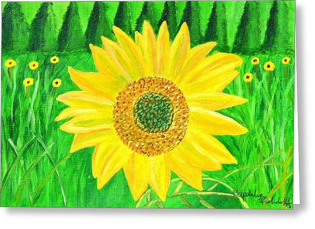 Sunflower  Greeting Card by Magdalena Frohnsdorff
