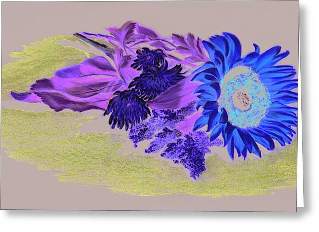 Spring Pastels Greeting Cards - Sunflower Greeting Card by Vanda Luddy