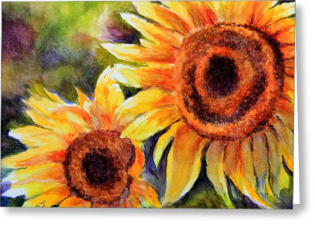 Sunflowers 2 Greeting Card by Susan Jenkins