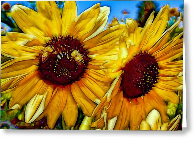 Sunflowers Greeting Card by Nikola Durdevic