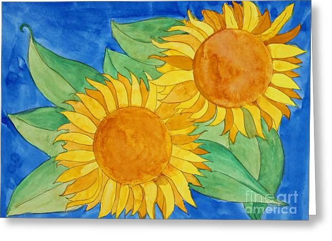 Sunflowers Greeting Card by Norma Appleton