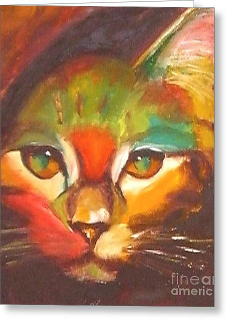 Kitten Prints Greeting Cards - Sunkist Greeting Card by Susan A Becker
