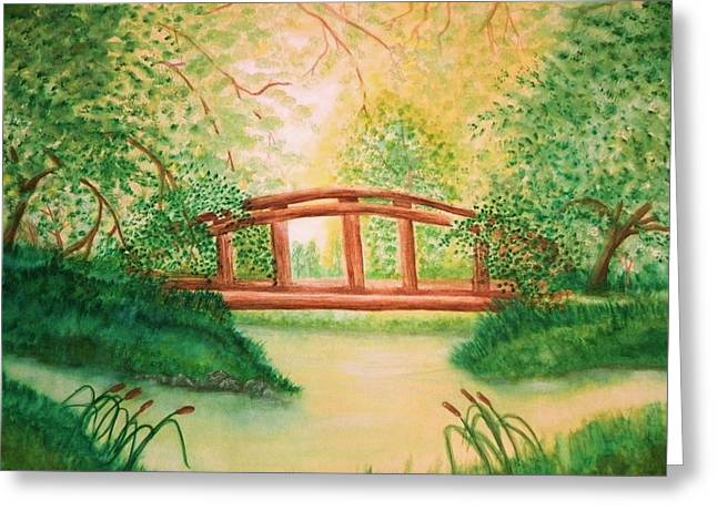 Sunlight And Serenity Greeting Card by Nan Hand