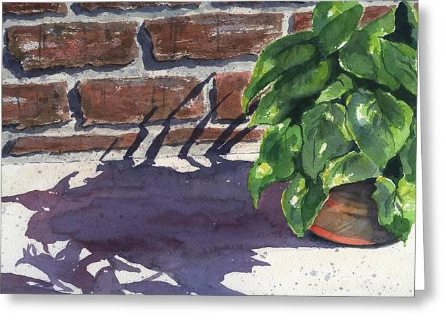 Sunlight Paintings Greeting Cards - Sunlight and Shadows Greeting Card by Marsha Elliott