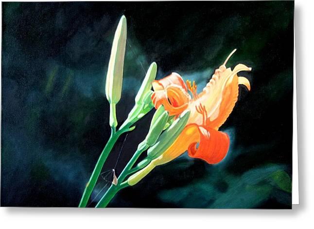 Best Sellers -  - Sunlight On Flowers Greeting Cards - Sunlight Greeting Card by Harlan