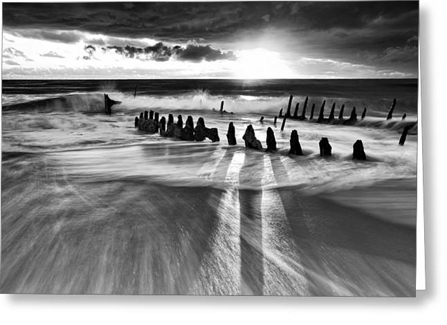 Ship-wreck Greeting Cards - Sunlight Greeting Card by Mel Brackstone