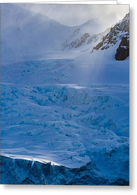 Sunlight On Ice - Antarctica Photograph Greeting Card by Duane Miller