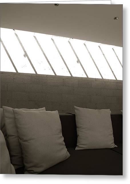 Cushion Greeting Cards - Sunlight on the wall Greeting Card by Jessica Rose