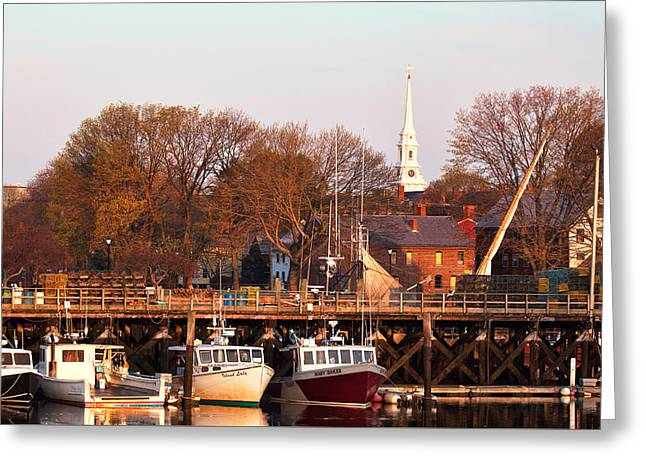 Prescott Greeting Cards - Sunlit Fishing Fleet Greeting Card by Eric Gendron